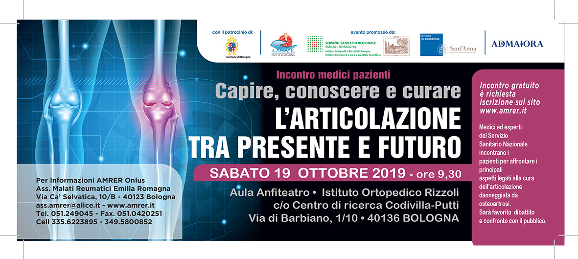 NEW TREATMENT FOR JOINT DISEASE: A SEMINAR ON OCTOBER 19 IN BOLOGNA PROVIDES UPDATE ON FUTURE RESEARCH